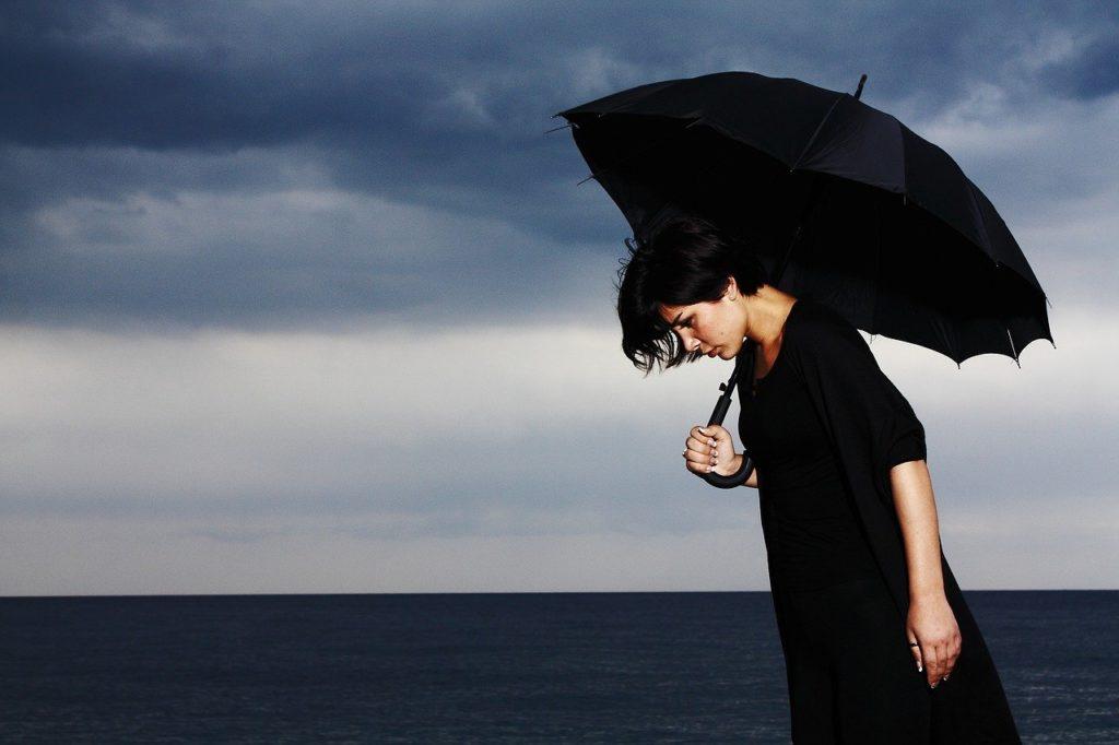 umbrella, only, sad